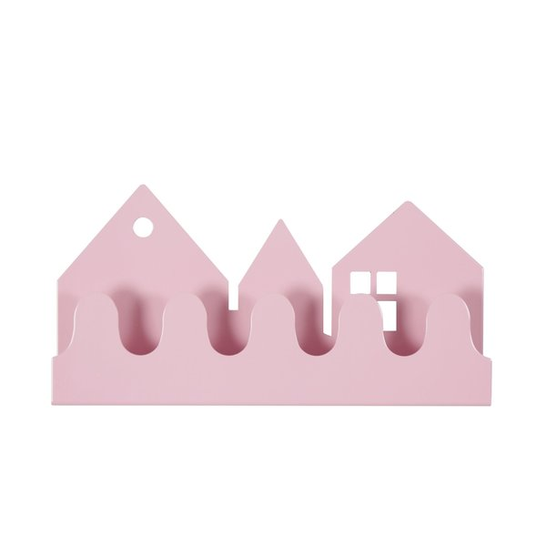 Roommate Roommate Denmark kinderkapstok huisjes village roze