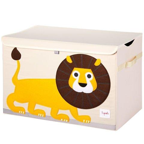 3 Sprouts speelgoedkist leeuw