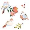 Mimilou mini muursticker kinderkamer vogels