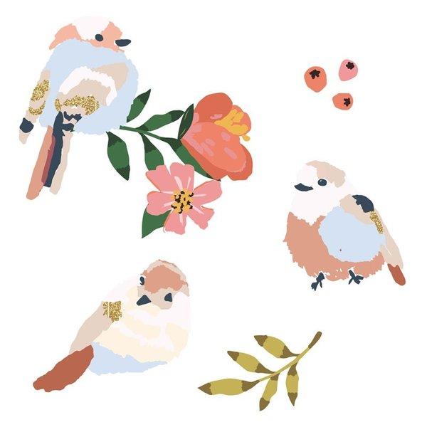 Mimi'lou Mimilou mini muursticker kinderkamer vogels