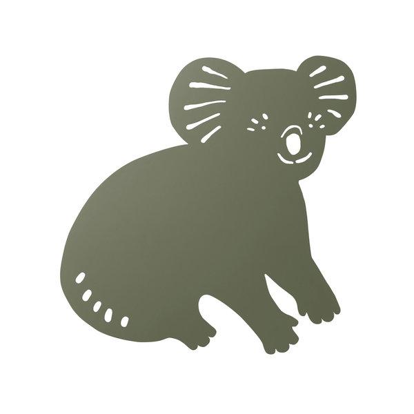 Ferm Living Kids Ferm Living wandlamp kinderkamer koala Dark olive