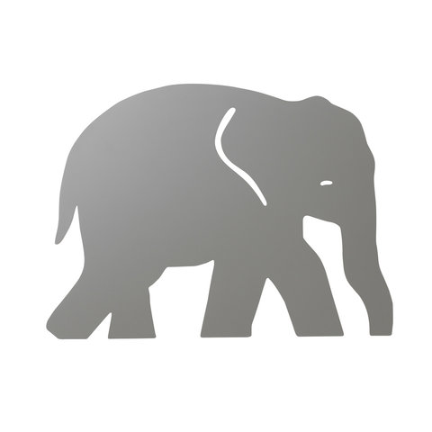 Ferm Living wandlamp kinderkamer olifant grijs