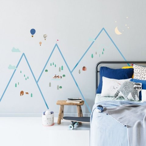 Mimilou muursticker kinderkamer bergen
