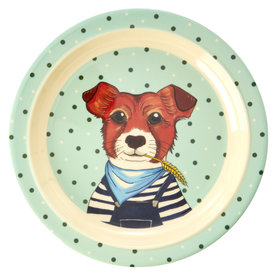 rice Denmark Rice melamine kinderbord hond Farm Animals print