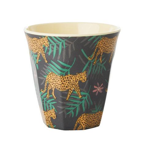 Rice melamine beker luipaard
