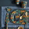 Rice melamine beker Leopard & Leaves print