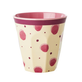 rice Denmark Rice melamine beker stippen Water Colour Splash roze