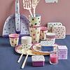 Rice melamine beker stippen  roze Water Colour Splash  print