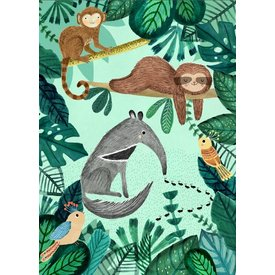 Petit Monkey Petit Monkey kinderposter jungle Anteater 50 x 70