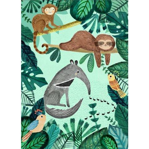 Petit Monkey kinderposter jungle Anteater 50 x 70