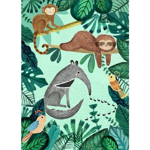 Petit Monkey Petit Monkey kinderposter 50 x 70 Anteater & Sloth