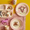 Rice  melamine kinderbekers Farm Animal prints roze