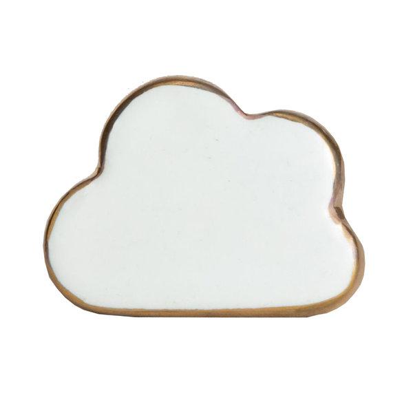 Bombay  Duck Bombay Duck deurknop wolk wit met gouden rand