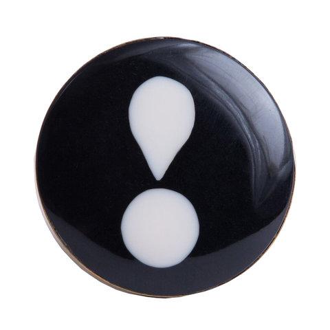Bombay Duck deurknop uitroepteken zwart