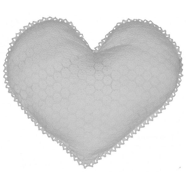 Taftan Taftan kussen kinderkamer hart Ibiza wit