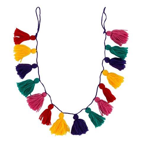Sass & Belle decoratie slinger kwasten multikleur