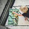 Tapis Petit vloerkleed kinderkamer Etnic groen