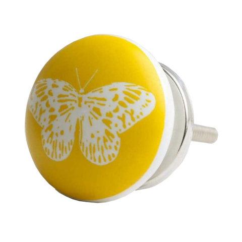 Bombay Duck kastknop vlinder geel