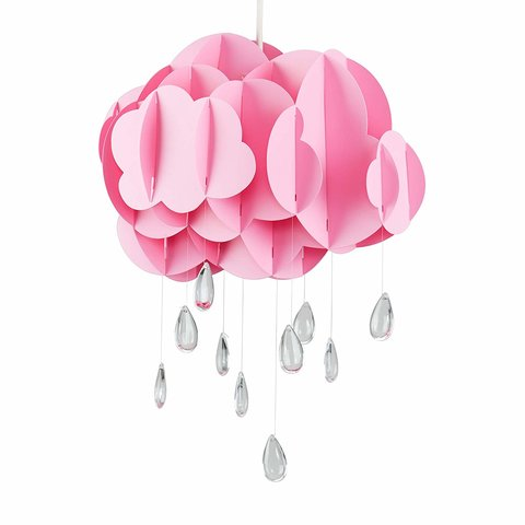 Kinderlamp wolk roze