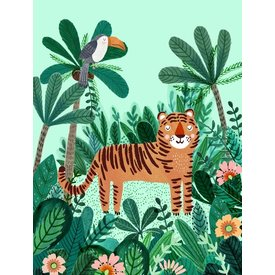 Petit Monkey Petit Monkey kinderposter jungle tijger 50 x 70
