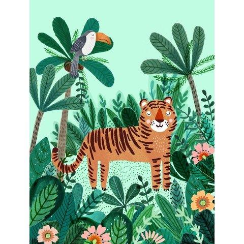 Petit Monkey kinderposter jungle tijger 50 x 70