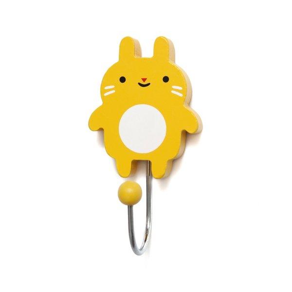 Petit Monkey Petit Monkey kinderkapstok haakje konijn Little Bunny geel