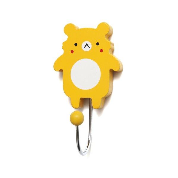 Petit Monkey Petit Monkey kinderkapstok haakje koala beer geel