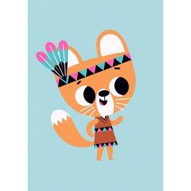 Petit Monkey Petit Monkey kinderposter eekhoorn 50 x 70