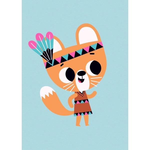 Petit Monkey Petit Monkey kinderposter 50 x 70 eekhoorn Squirrel