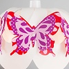 Kinderlamp wit met kleurrijke vlinders