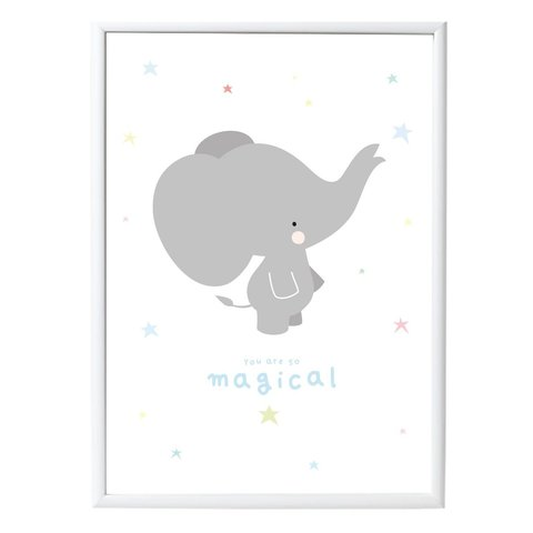A Lovely Little Company kinderposter olifant