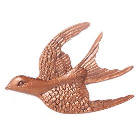 La Finesse La Finesse kastknop vogel zwaluw koper