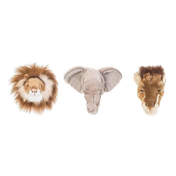 Wild & Soft Wild & Soft dierenkoppen mini wilde dieren