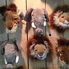 Wild & Soft dierenkoppen mini wilde dieren