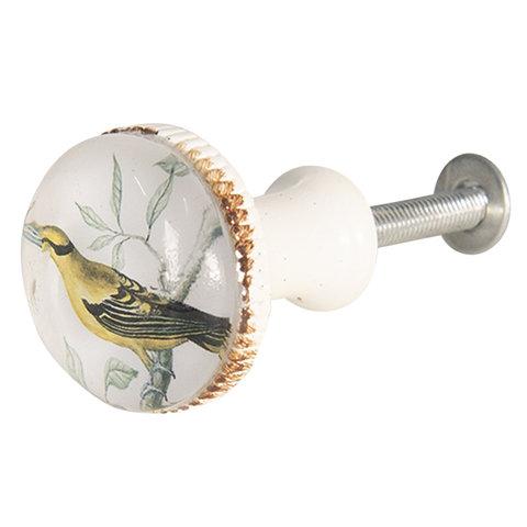 Clayre & Eef deurknopje gele vogel