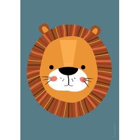 Designed4Kids Designed4Kids poster A3 poster leeuw