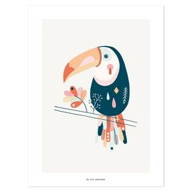 Lilipinso Lilipinso poster kinderkamer toekan pastel