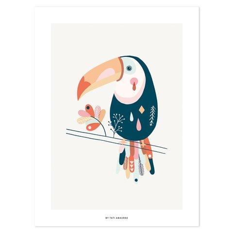Lilipinso poster kinderkamer toekan pastel