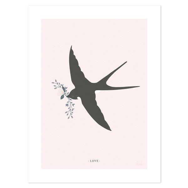 Lilipinso Lilipinso poster kinderkamer vogel zwaluw