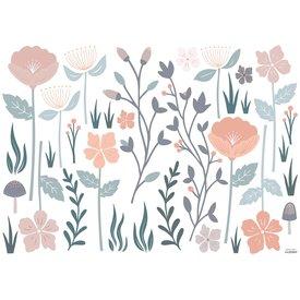Lilipinso Lilipinso muursticker romantische bloemen groot