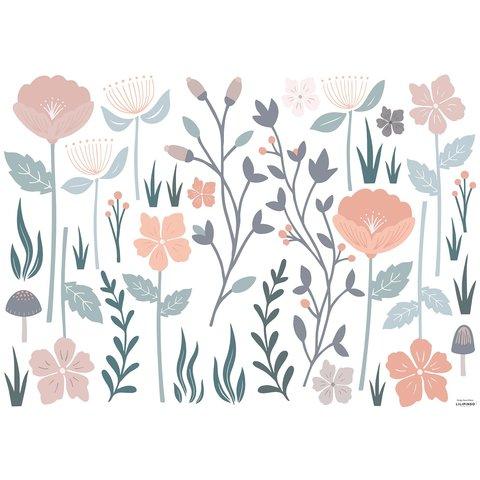 Lilipinso muursticker romantische bloemen groot