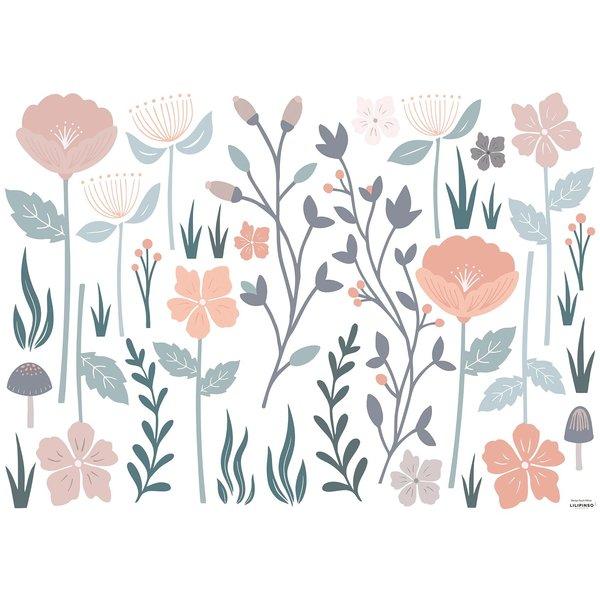 Lilipinso Lilipinso muursticker kinderkamer romantische bloemen groot