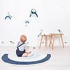 Lilipinso muursticker kinderkamer paradijsvogels blauw