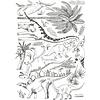 Lilipinso muursticker kinderkamer dino's zwart wit