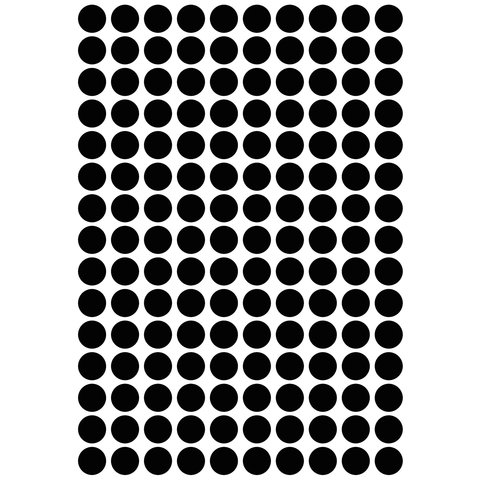 Lilipinso muurstickers stippen zwart