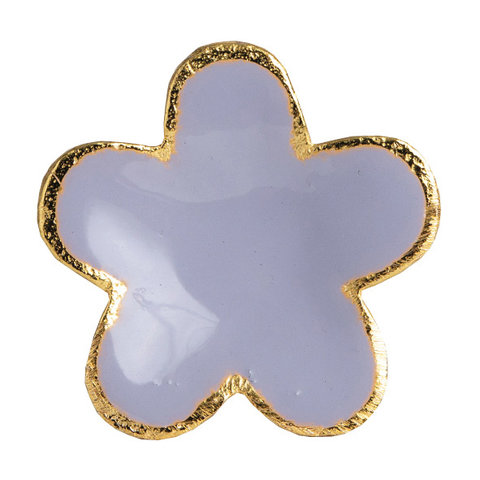 Bombay Duck deurknop bloem paars met gouden rand