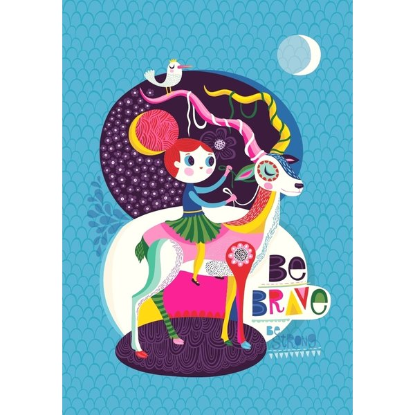 Petit Monkey Petit Monkey kinderposter A3 Be Brave