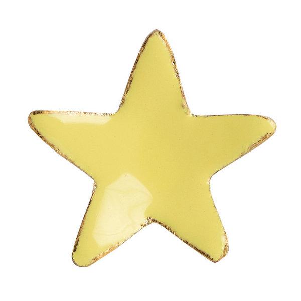 Bombay  Duck Bombay Duck deurknop ster geel met gouden rand