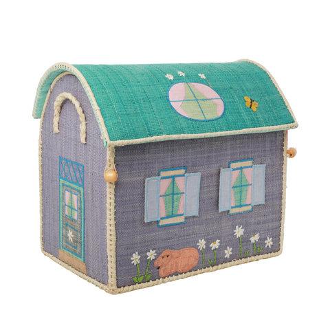 Rice speelgoedmand  huis Country House middel groot