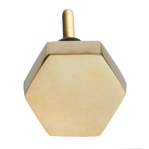 Bombay Duck deurknop  goud hexagon
